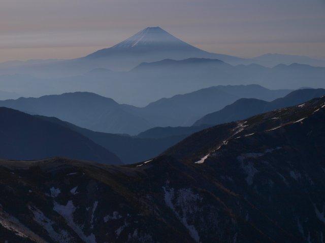 s塩見岳山頂にて2