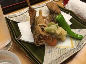 れんげ草 魚の唐揚げ