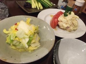 豚児2 漬物 サラダ