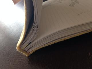 ノートの開き
