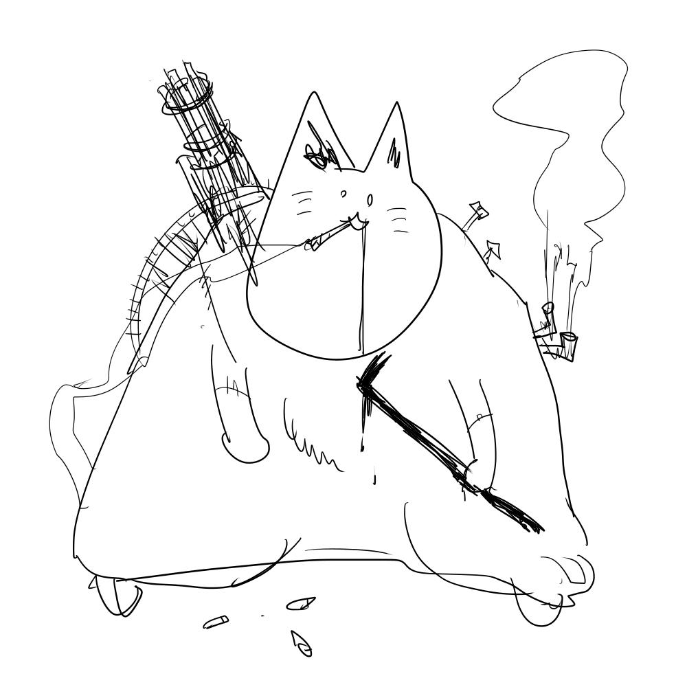ゾンビ猫(強)