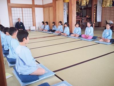 400150317 坐禅体験と保護者の坐禅体験