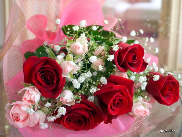 日比谷花壇「薔薇の花束」