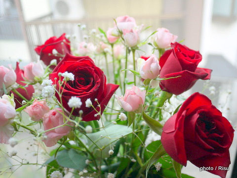 薔薇の花束を長持ちさせる