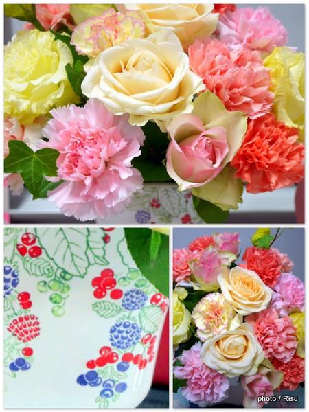 日比谷花壇2015母の日フラワーアレンジメント