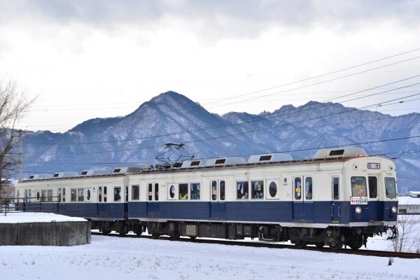 2014年12月20日 上田電鉄別所線 下之郷~大学前 7200系7255F