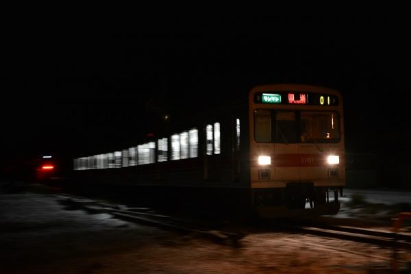 平成27年1月12日 上田電鉄別所線 中塩田~塩田町 1000系1001編成