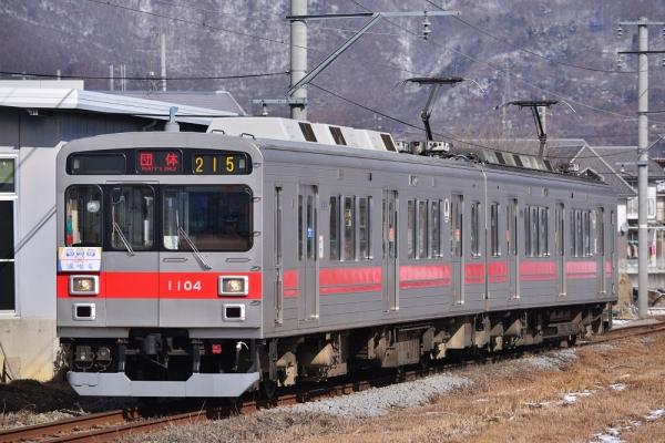 2015年1月31日 上田電鉄別所線 赤坂上~三好町 1000系1004編成