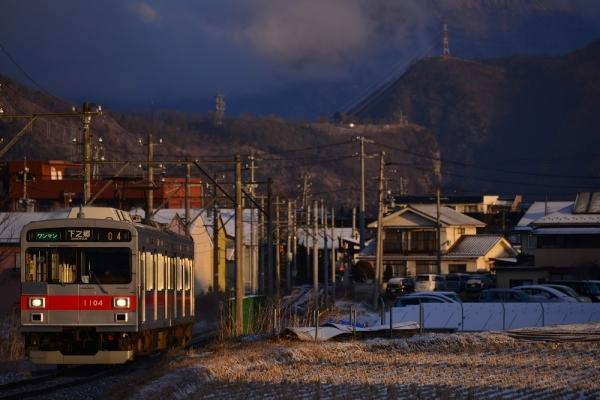 2015年2月1日 上田電鉄別所線 大学前~下之郷 1000系1004編成