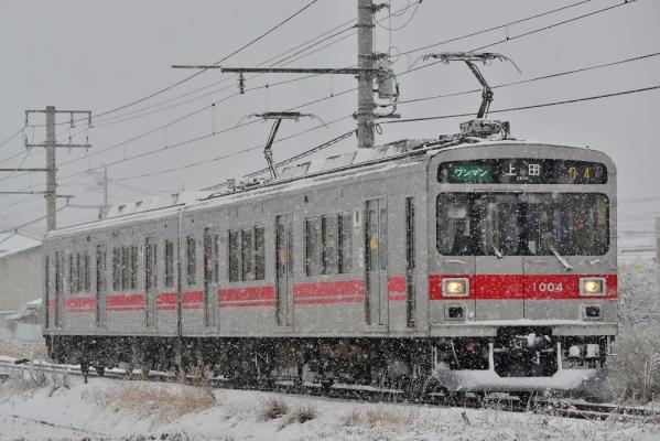 2015年2月15日 上田電鉄別所線 赤坂上~三好町 1000系1004編成