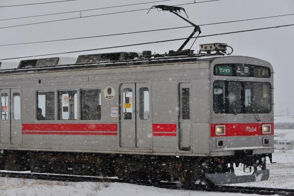 2015年2月15日 上田電鉄別所線 神畑~寺下 1000系1004編成