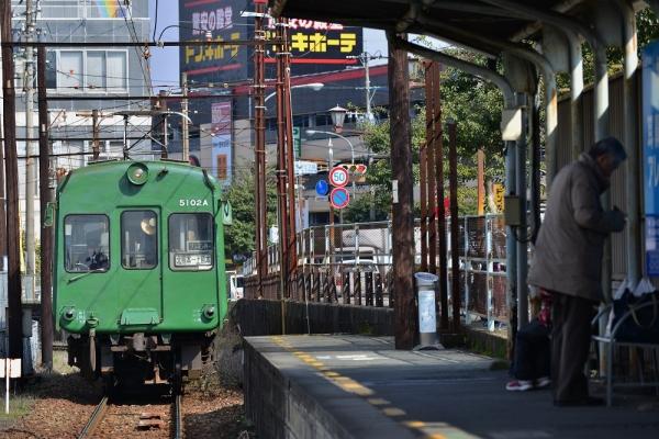 2015年2月17日 熊本電気鉄道菊池線 上熊本 5000形5102A