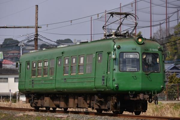 2015年2月17日 熊本電気鉄道菊池線 打越~坪井川公園 5000形5102A