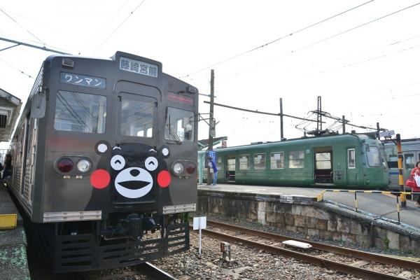 2015年2月17日 熊本電気鉄道菊池線 北熊本 6000形6221A+6228ef/5000形5102A