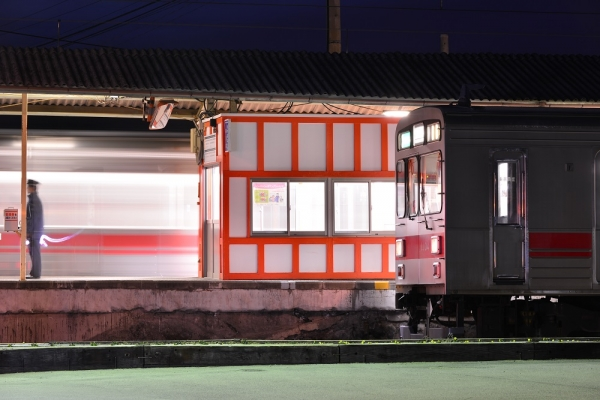 2015年2月25日 上田電鉄別所線 下之郷 1000系1004編成/1001編成