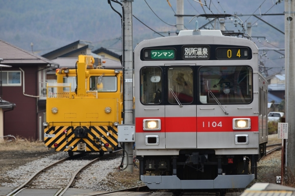 2015年2月26日 上田電鉄別所線 中塩田 1000系1004編成