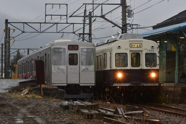 2015年3月1日 上田電鉄別所線 中塩田 DMC2010+6000系6001編成/7200系7255編成