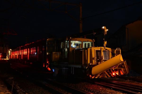 2015年3月1日 上田電鉄別所線 中塩田 DMC2010+6000系6001編成