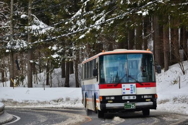 2015年3月2日 上田バス菅平高原線 大洞 N-907号車