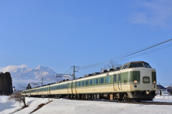 2015年3月8日 JR東日本信越本線 黒姫~古間 189系長野車N103