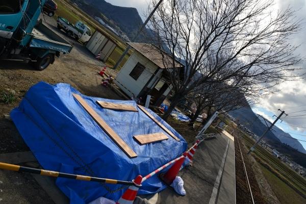 2015年3月23日 上田電鉄別所線 舞田 舞田駅待合室改修工事
