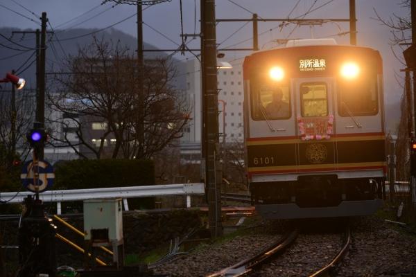 2015年4月1日 上田電鉄別所線 上田~城下 6000系6001編成