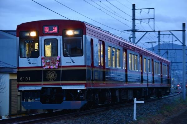 2015年4月5日 上田電鉄別所線 塩田町~中野 6000系6001編成