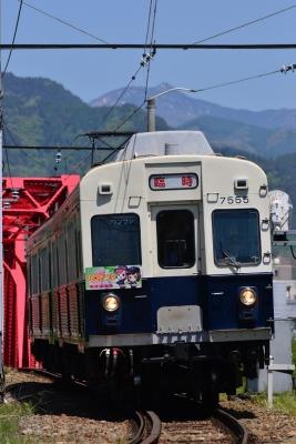 2015年5月5日 上田電鉄別所線 上田~城下 7200系7255編成