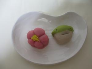 和菓子 梅と鶯