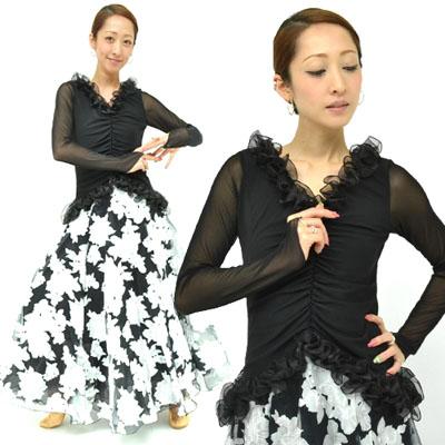 オーガンジーラッフルデザインドレス