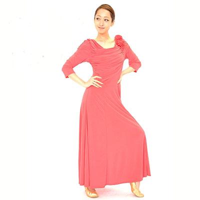 薔薇ドレープワンピースドレス