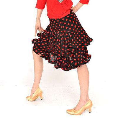 水玉3段ティアードスカート