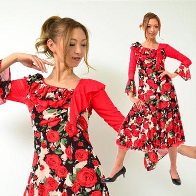 花柄ダンスワンピース-MA23C