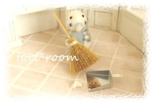 インコちゃん掃除