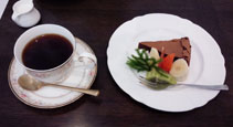城山喫茶でお茶