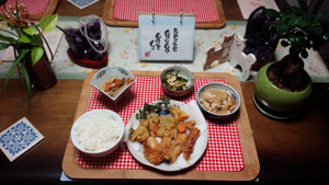 晩ご飯 天ぷらとあれこれ