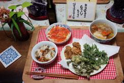 晩御飯 ポトフ・サーモンサラダ・天ぷら