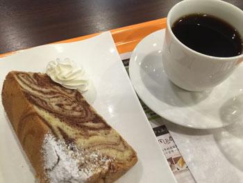150512 cafe風良都 シフォンケーキセット