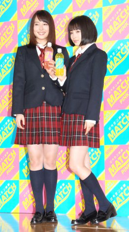 広瀬アリス&すず姉妹が男子校にサプライズ登場、「かわいい」と生徒歓喜…炭酸飲料「マッチ」新CM発表会7