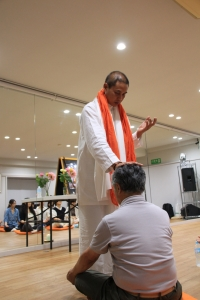 Giving Blessing to one of the participant in Tokyo