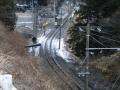田切駅を出発した上り電車