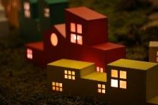 ・家の形のイルミネーション