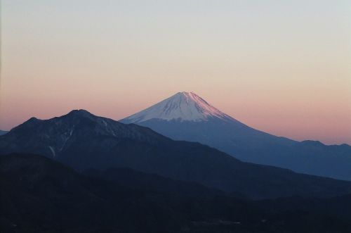 富士山残照