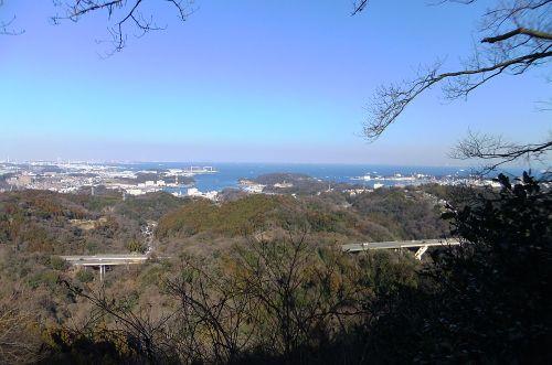 乳頭山からみた東京湾