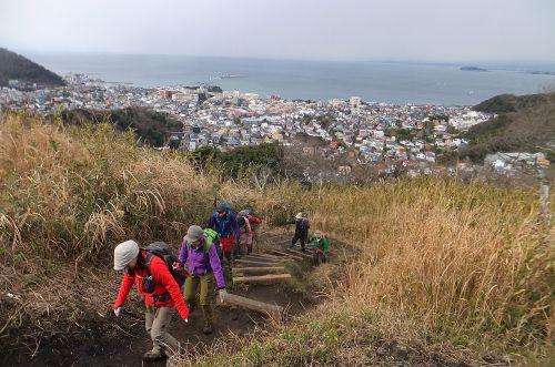 仙元山への上り