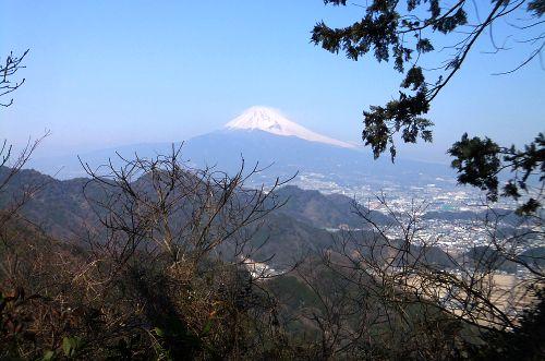 稜線からみた富士山