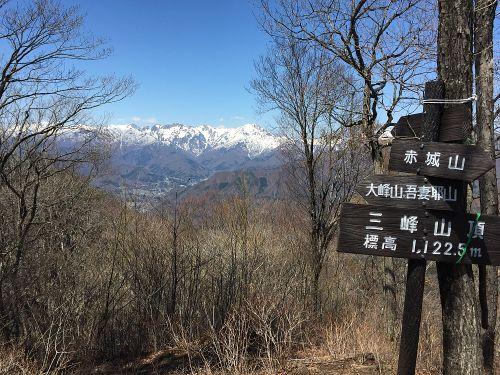 山頂から谷川連峰