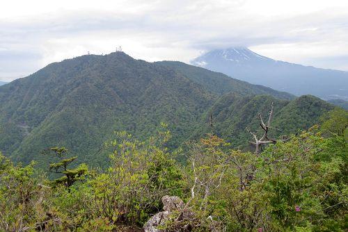 富士山と三つ峠