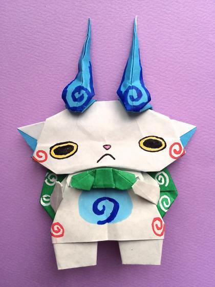 ハート 折り紙 妖怪ウォッチ コマさん 折り紙 : vongi.blog72.fc2.com