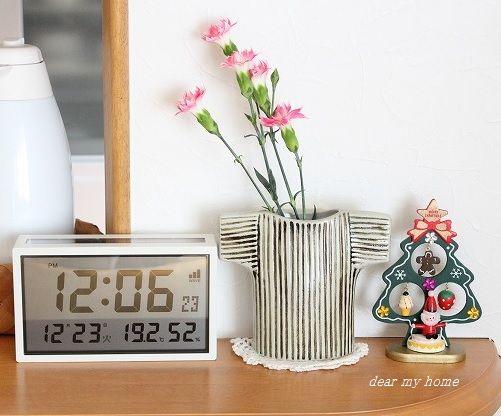 お花のあるカウンター
